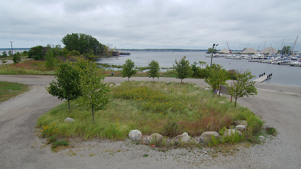 Rain Garden | Grand Trunk Boat Launch