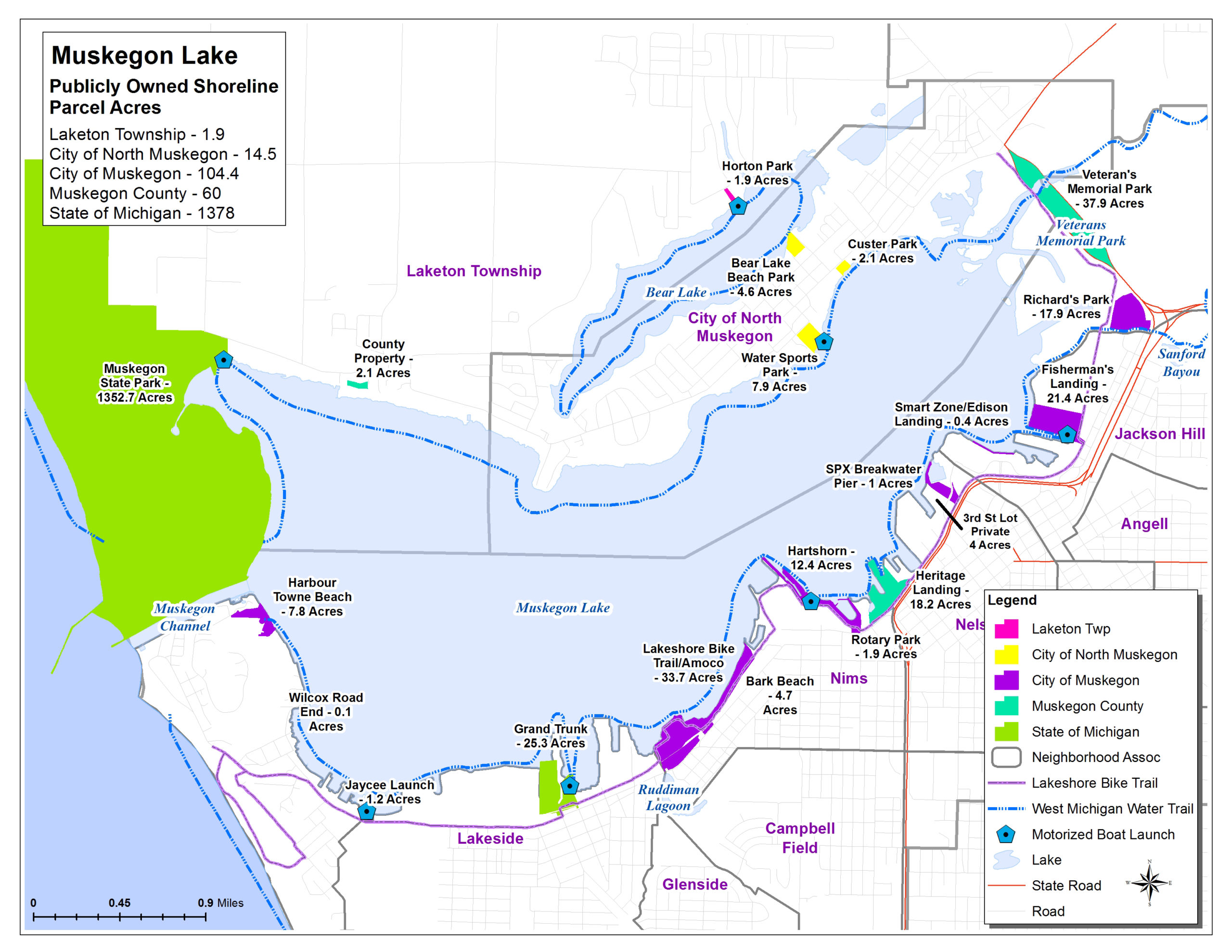 MLWP | Public Parcels Map of Muskegon Lake