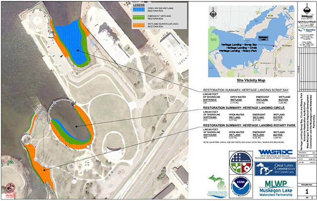 Heritage Landing Restoration Map