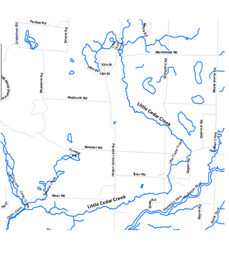 Little Cedar Creek Map