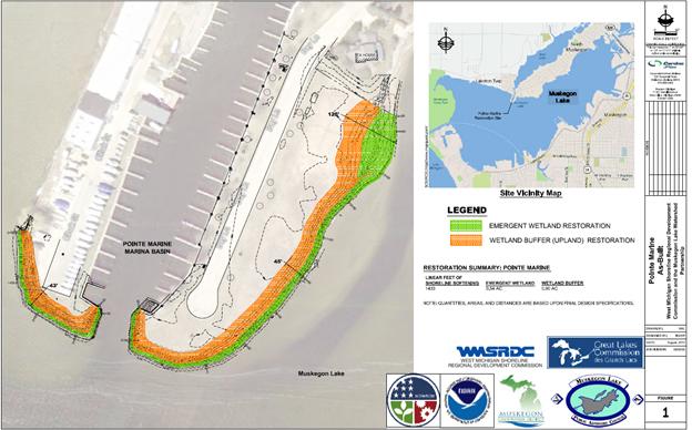 Pointe Marine | Muskegon Lake Map